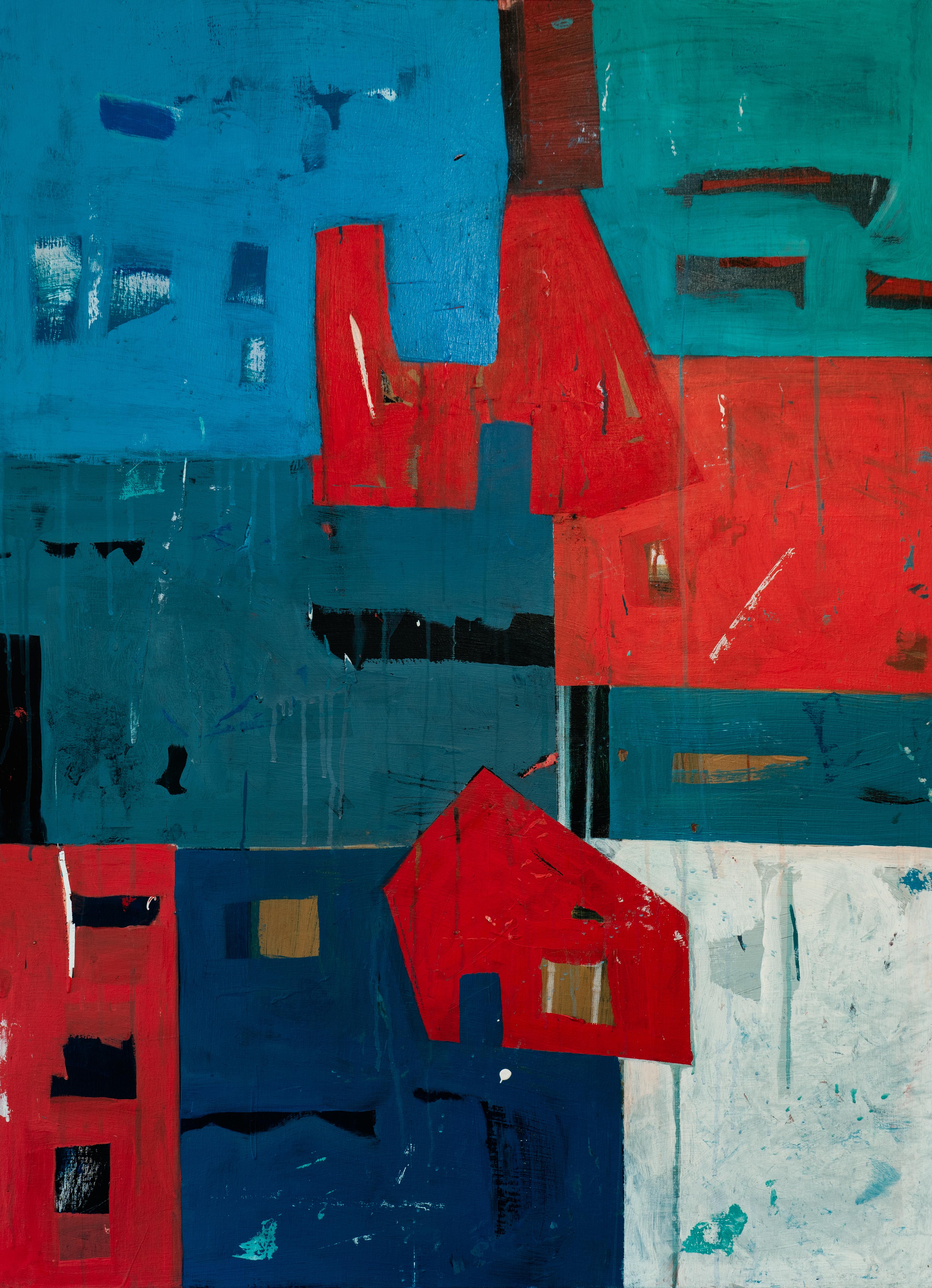 peinture abstraite acrylique sur toile