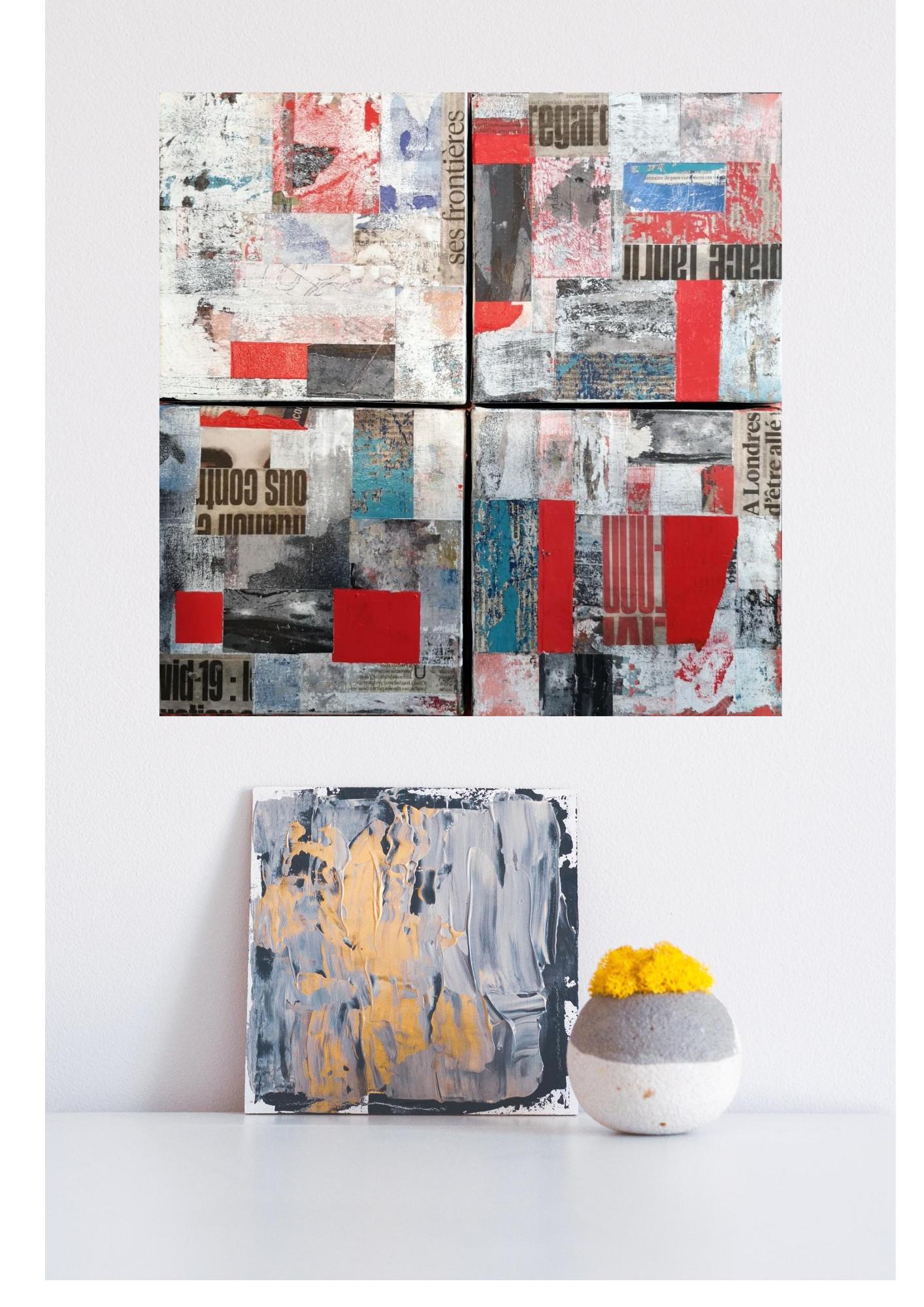Composition de 4 tableaux