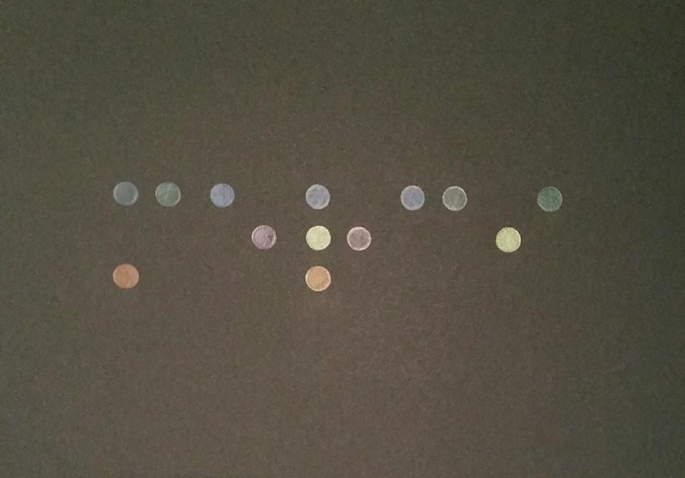 Oeuvre du Docteur Vayr art abstrait art contemporain aveugles non voyants braille cy twombly joconde Mona lisa lettrisme lettrisme mondrian Docteur Vayr Télérama ophtalmologiste