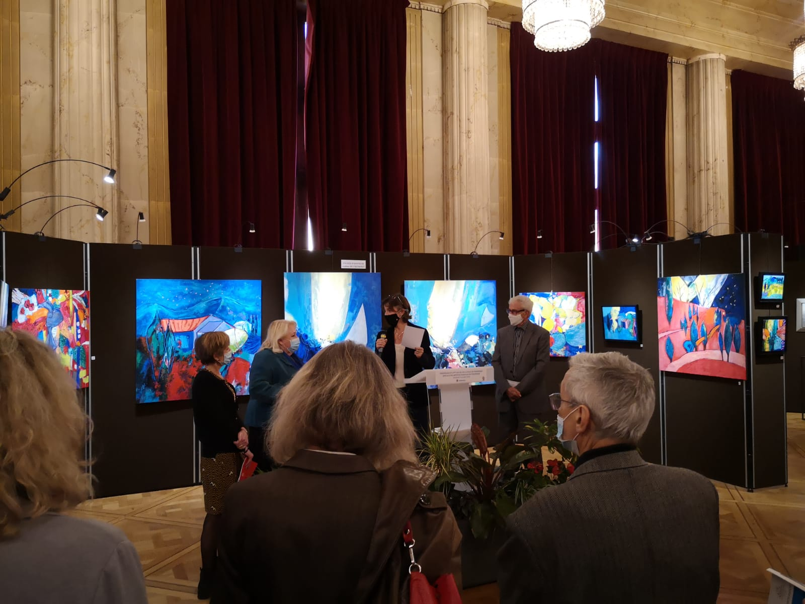 Vernissage de l'exposition de Vincennes