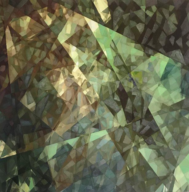 Une œuvre abstraite (cubiste) d'Ai-Da